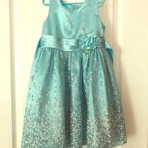 Blue & Sliver Glitter Dress